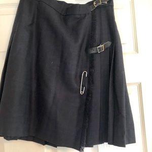 Burberry wool skirt.